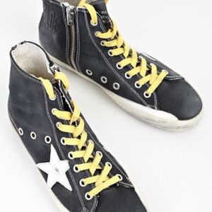 Golden Goose high-top sneakers. Mint condition!